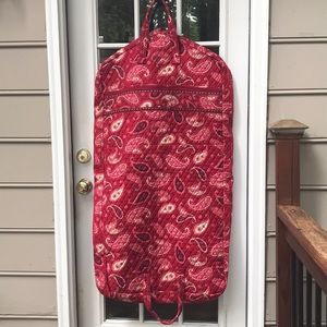 VeraBradley Mesa Red Garment Bag Excellent